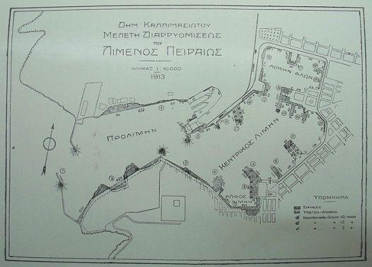 Plannen voor de renovatie van de haven uit 1913